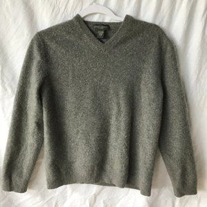 Banana Republic 100% Cashmere Large Gray Sweater